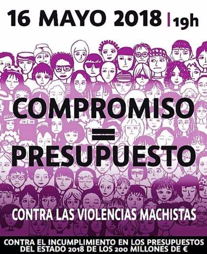 Las feministas saldrán a la calle el 16 de mayo en 40 ciudades para exigir presupuesto contra la violencia machista