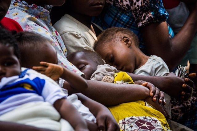 Niños desnutridos en Kasai (RDC)