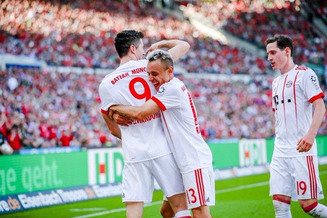 Bayern Múnich Robert Lewandowski Rafinha Sebastian Rudy