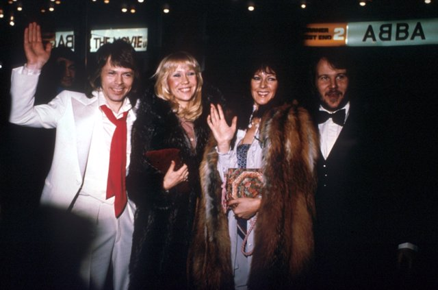 Abba at the premiere of Abba the movie