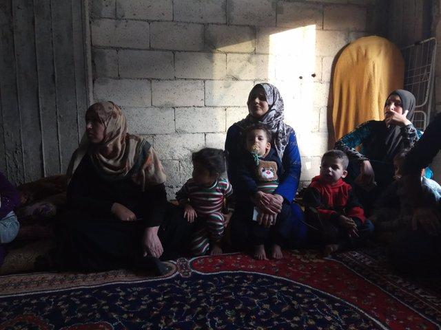 Familias sirias en Líbano