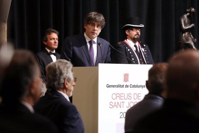 Entrega de las Creus de Sant Jordi de 2017