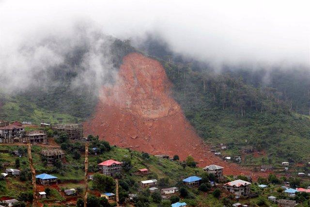 Avalancha de tierra en Freetown