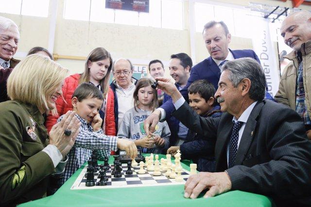 Revilla en el torneo de ajedrez
