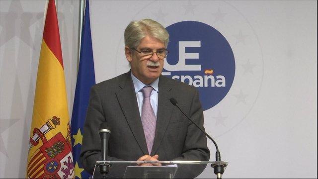 Dastis Acude A La Reunion Con Sus Homólogos De La Unión Europea