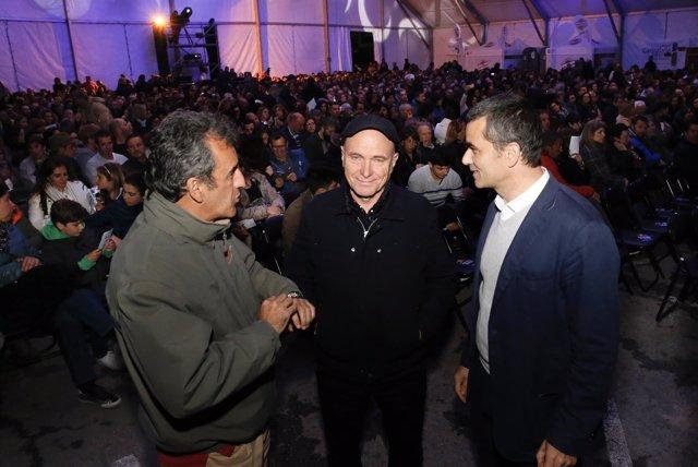 De izquierda a derecha, Martín, Padrissa y Bahillo