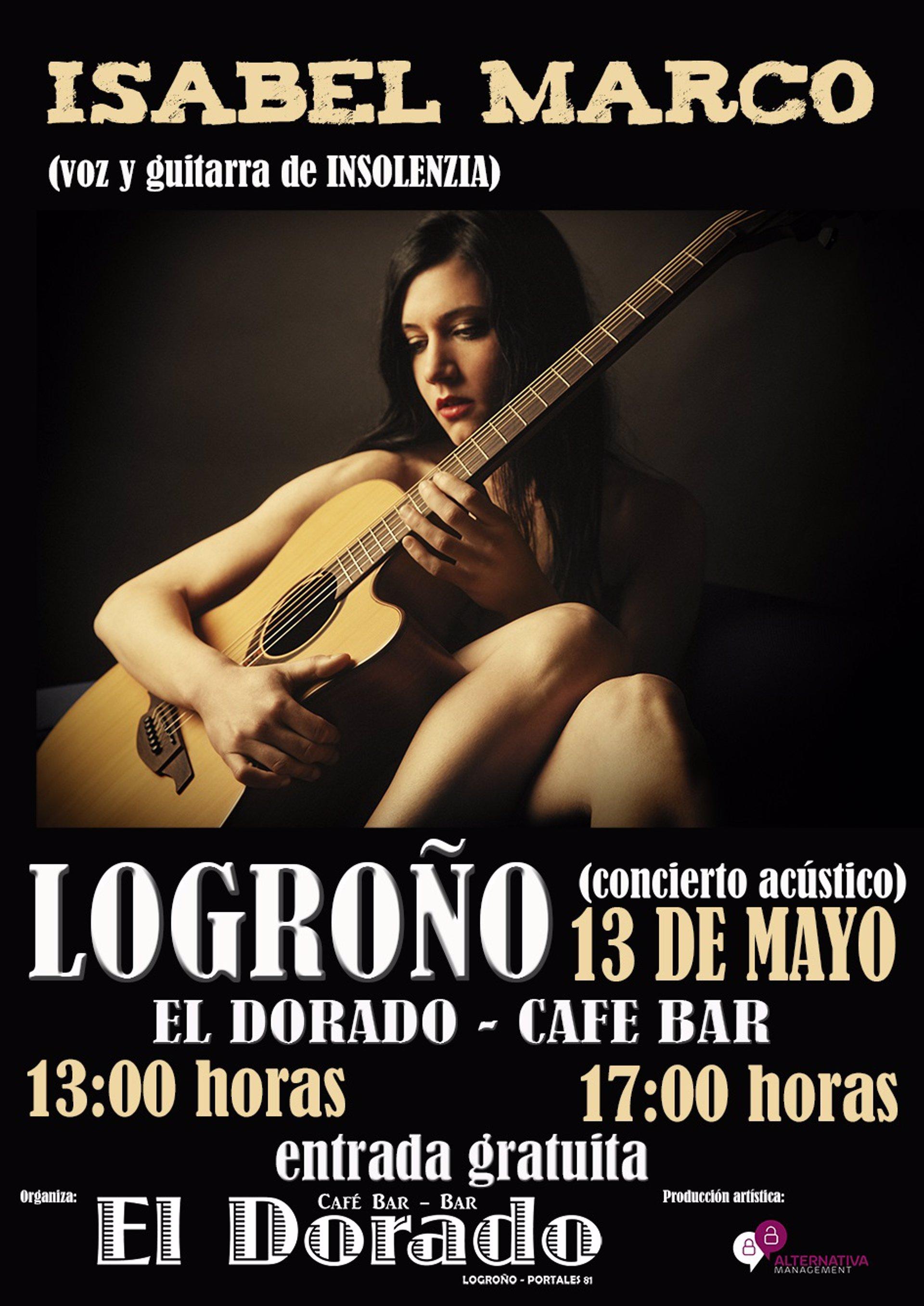 Isabel Marco, cantante y guitarrista de Insolenzia, llega hoy a ...