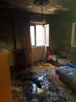 Incendio en una vivienda de Tomelloso