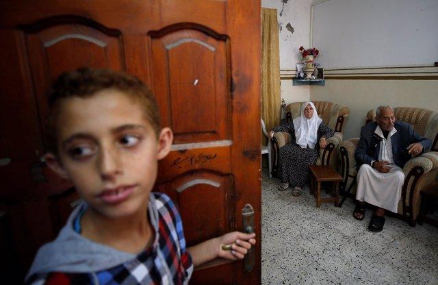 Refugiados palestinos en Gaza