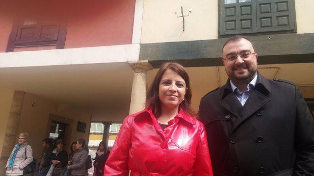 Adriana Lastra y Adrián Barbón