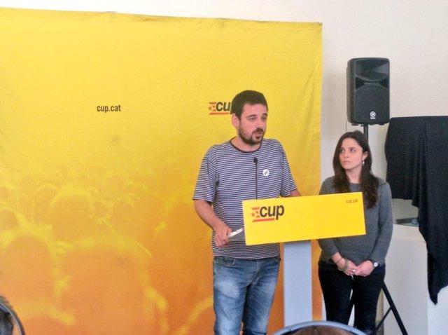 Lluc Salellas y Maria Sirvent, CUP