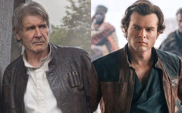 Han Solo: Harrison Ford y Alden Ehrenreich