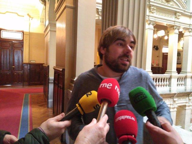 El secretario general de Podemos en Asturias, Daniel Ripa
