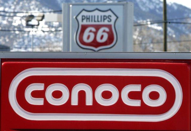 Logotipo de la petrolera A Conoco Phillips