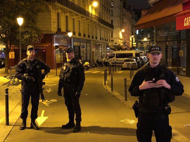 Policía francesa tras ataque con cuchillo