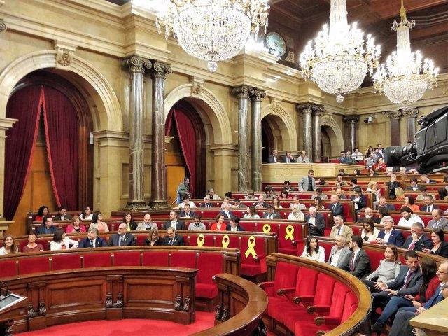 Primera sesión del pleno del Parlament de investidura de Quim Torra, JxCat