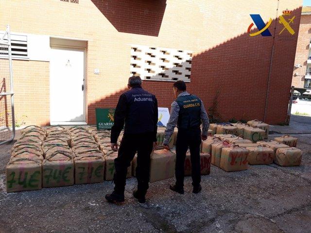 Incautación de 2.580 kilos de hachís
