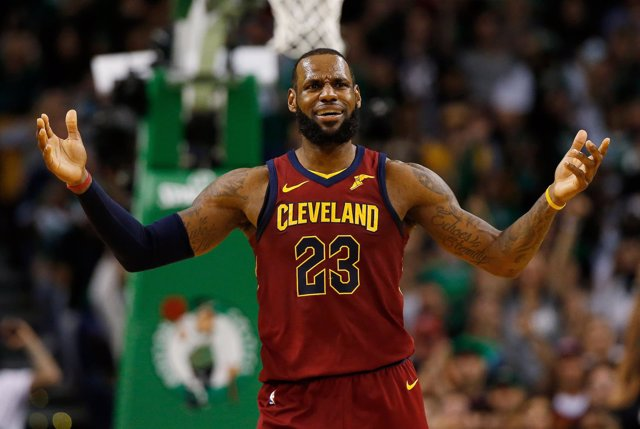 LeBron James en el Cleveland Cavaliers - Boston Celtics