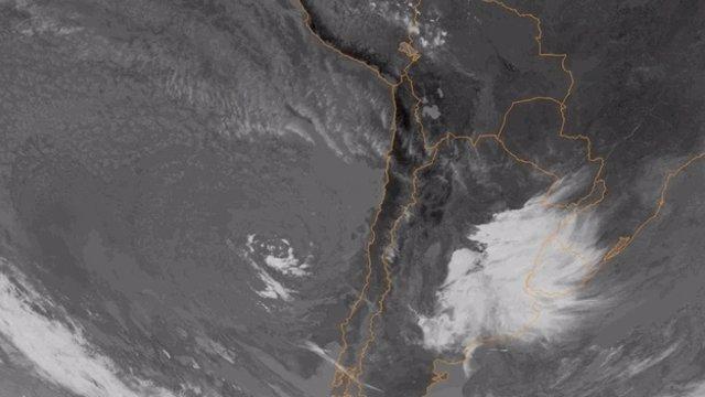 Imagen de la formación del ciclón
