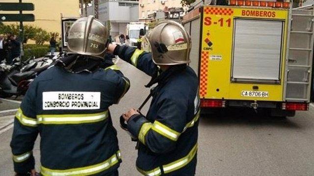 Bomberos de Cádiz en una anterior actuación