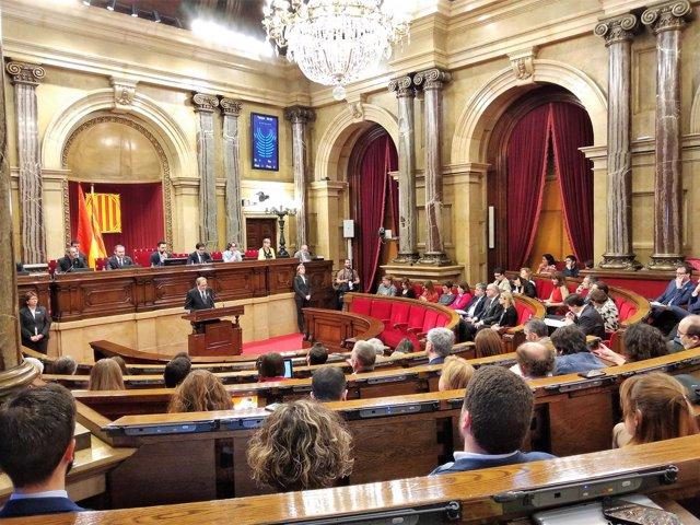 Quim Torra (JxCat) en su segundo discurso de investidura en el Parlament