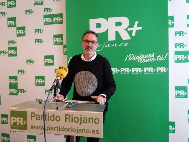Rubén Antoñanzas, en la rueda de prensa