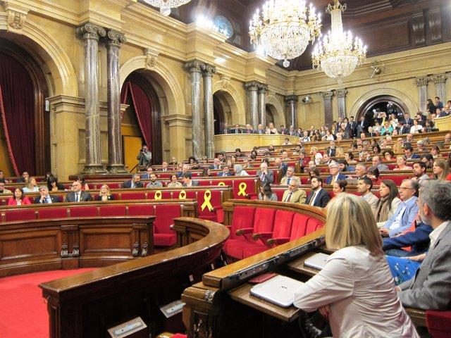 Segundo Pleno De Investidura De Quim Torra En El Pleno Del Parlament