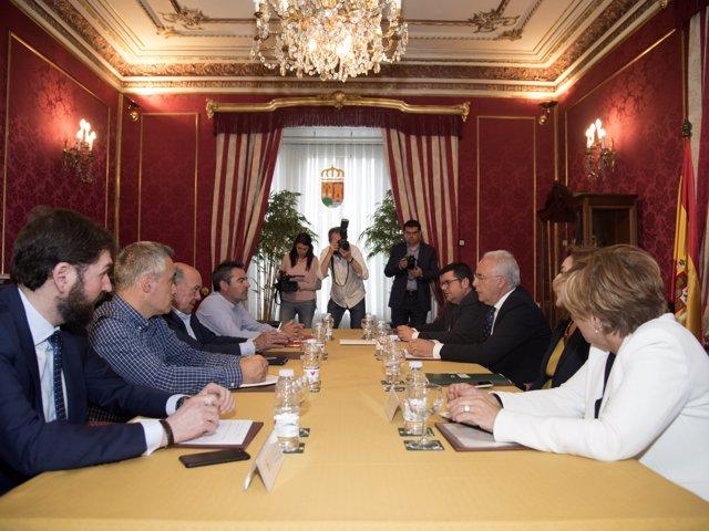 Imagen de la reunión del Consejo de Diálogo Social