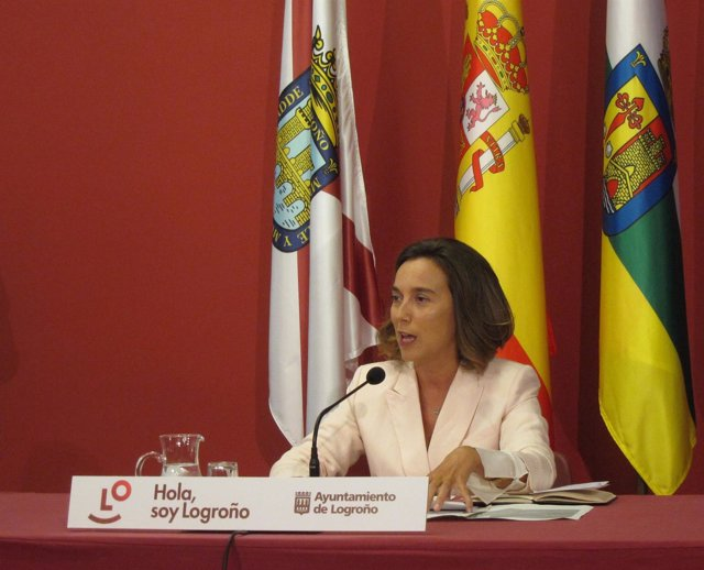 La alcaldesa de Logroño, Cuca Gamarra
