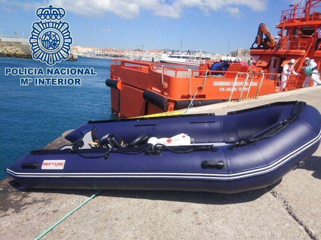Embarcación del patrón de patera detenido en Algeciras