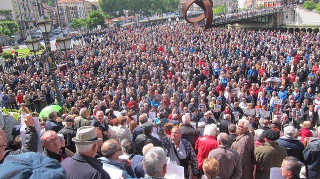 Concentración de este lunes en Bilbao