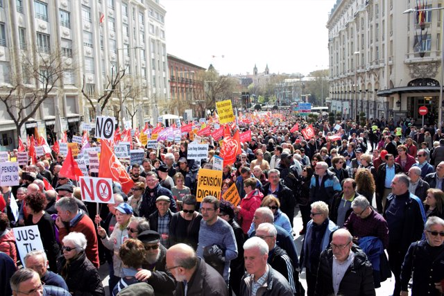 Manifestación pensionistas 15 de abril