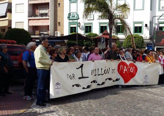 Marcha inaugural de la iniciativa 'Por un millón de pasos'