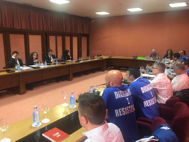 Foto archivo reunión negociaciones justicia