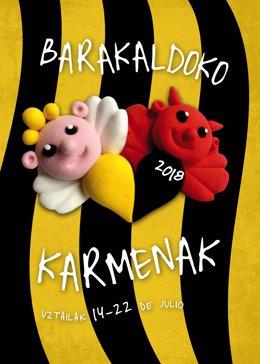 Cartel a concurso para fiestas de El Carmen 2018