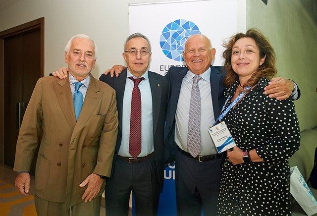 Victoria Cabezas y Alejandro Blanco en una reunión del EOC