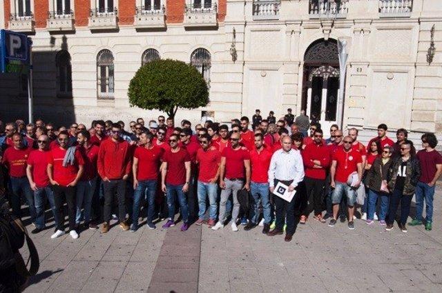 Concentración bomberos Ciudad Real
