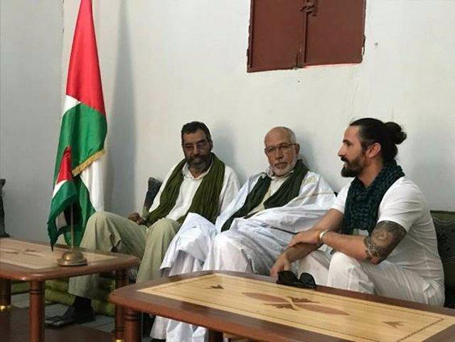 El presidente del Parlament, Baltasar Picornell, en el viaje a Tindouf