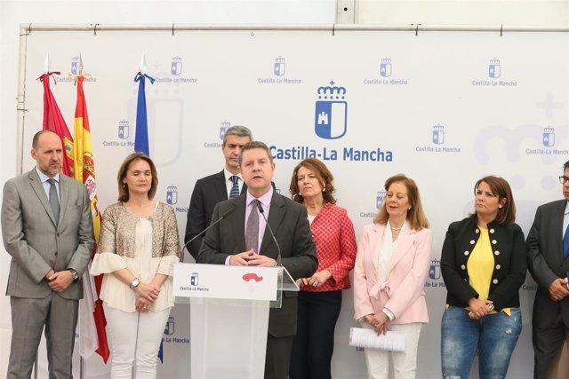 El presidente de Castilla-La Mancha, Emiliano García-Page, en Talavera