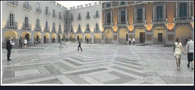 Diseño de la Plaza Vieja para su remodelación