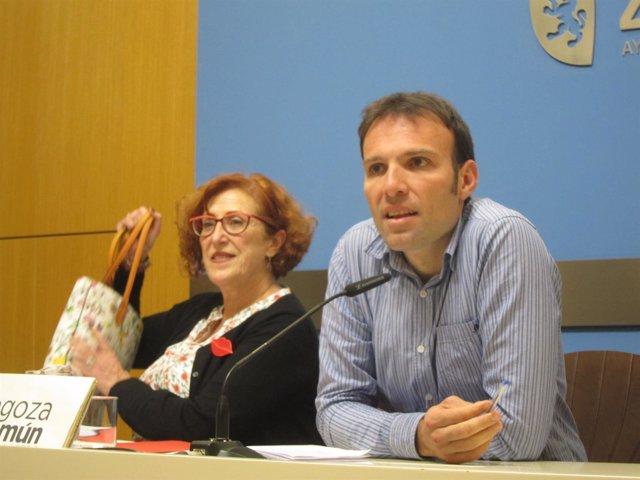 Pablo Muñoz y Maribel Martínez, hoy en rueda de prensa en el Ayuntamiento