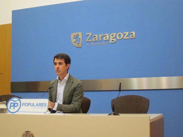 El portavoz adjunto del grupo municipal del PP, Pedro Navarro.