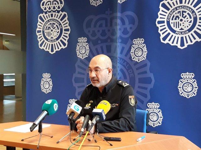 El portavoz de la Comisaría de Policía Nacional de Vigo, Pablo Pallarés