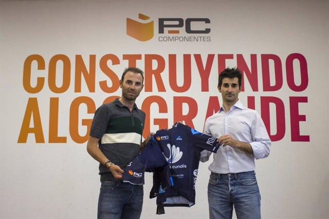 Alejandro Valverde renueva el patrocinio de PCComponentes