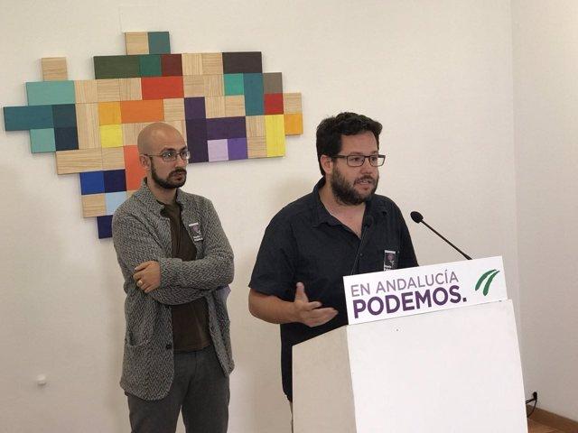 Secretario de Juventud de Podemos Andalucía, José Ignacio García, con Ganfornina