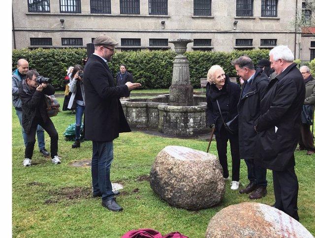 Inauguración Xardín das pedras que falan en Fonseca, Santiago
