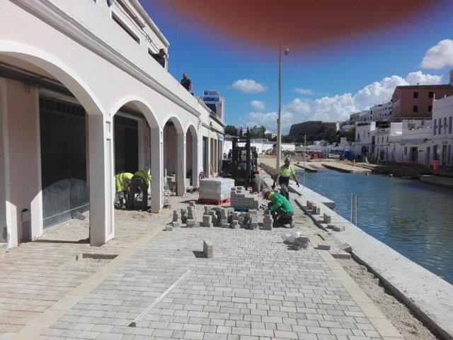 Obras puerto interior Ciutadella