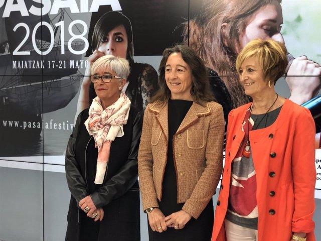Izaskun Gómez, Marisol Garmendia y Maite Cruzado