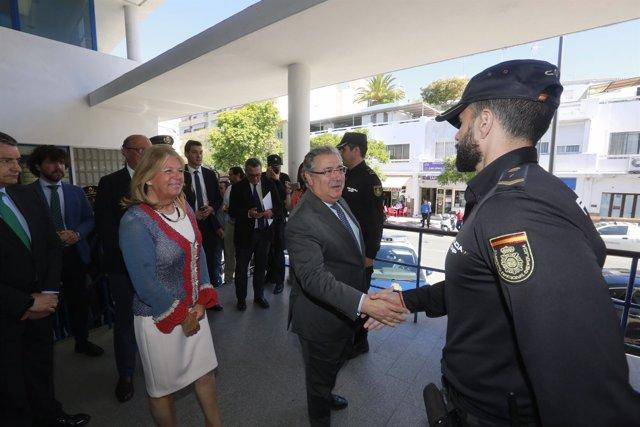 El ministro del Interior, Juan Ignacio Zoido, visita Marbella
