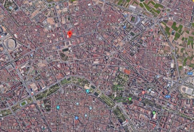 Localización de la Avenida Peset Aleixandre de València